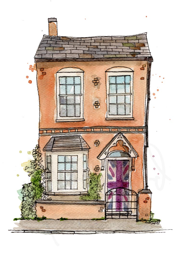 Traditional Illustration Work - Chapel Street Wellesbourne