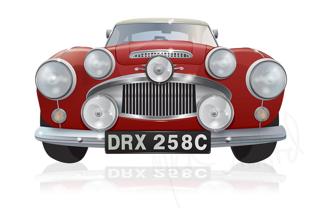 Illustrated Austin Healey - DRX 285C - Warwick